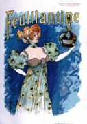 Vintage advertisement poster - Feuillantine french perfume